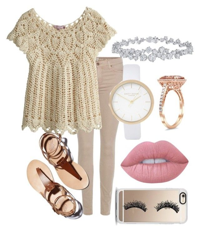 """""""Eyelashes😶"""" by rwaldrep ❤ liked on Polyvore featuring 7 For All Mankind, Calypso St. Barth, Harry Winston, River Island, Lime Crime and Casetify"""