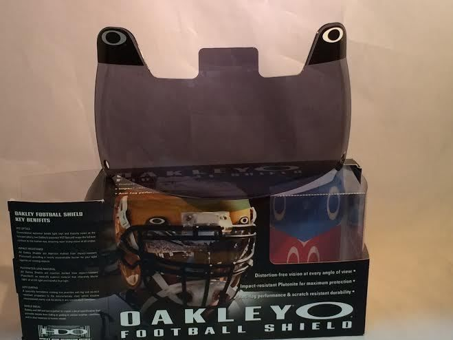 399f07832d3 New Oakley 42-004 Adult 20% Dark Grey Football Visor Eye Shield ...