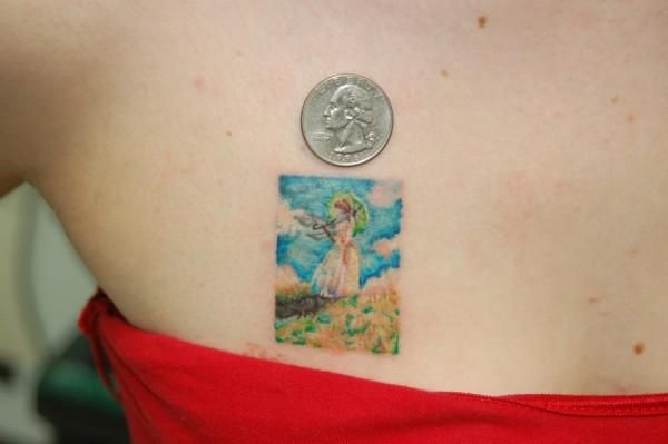 Monet Dont Usually Give Small Tattoos A Second Glance But This Is