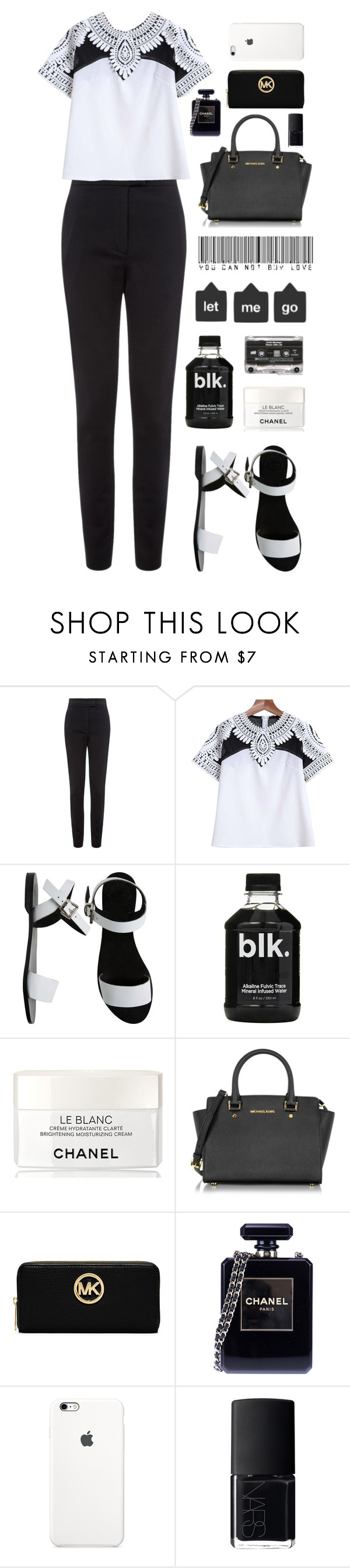 """""""work"""" by chanelniall ❤ liked on Polyvore featuring Vielma London, Sol Sana, Chanel, Michael Kors, MICHAEL Michael Kors and NARS Cosmetics"""