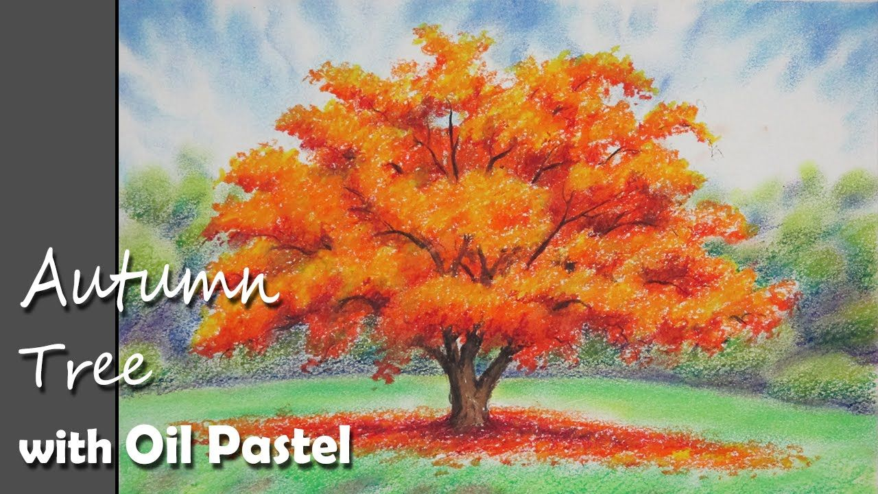 How To Paint A Autumn Tree With Oil Pastel Lesson 1 Youtube Oil Pastel Oil Pastel Drawings Easy Oil Pastel Art