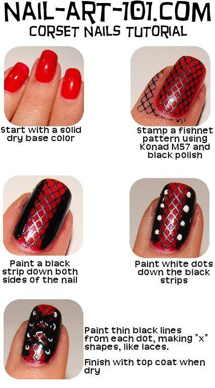 Corset Nail Art Tutorial Httpnail Art 101