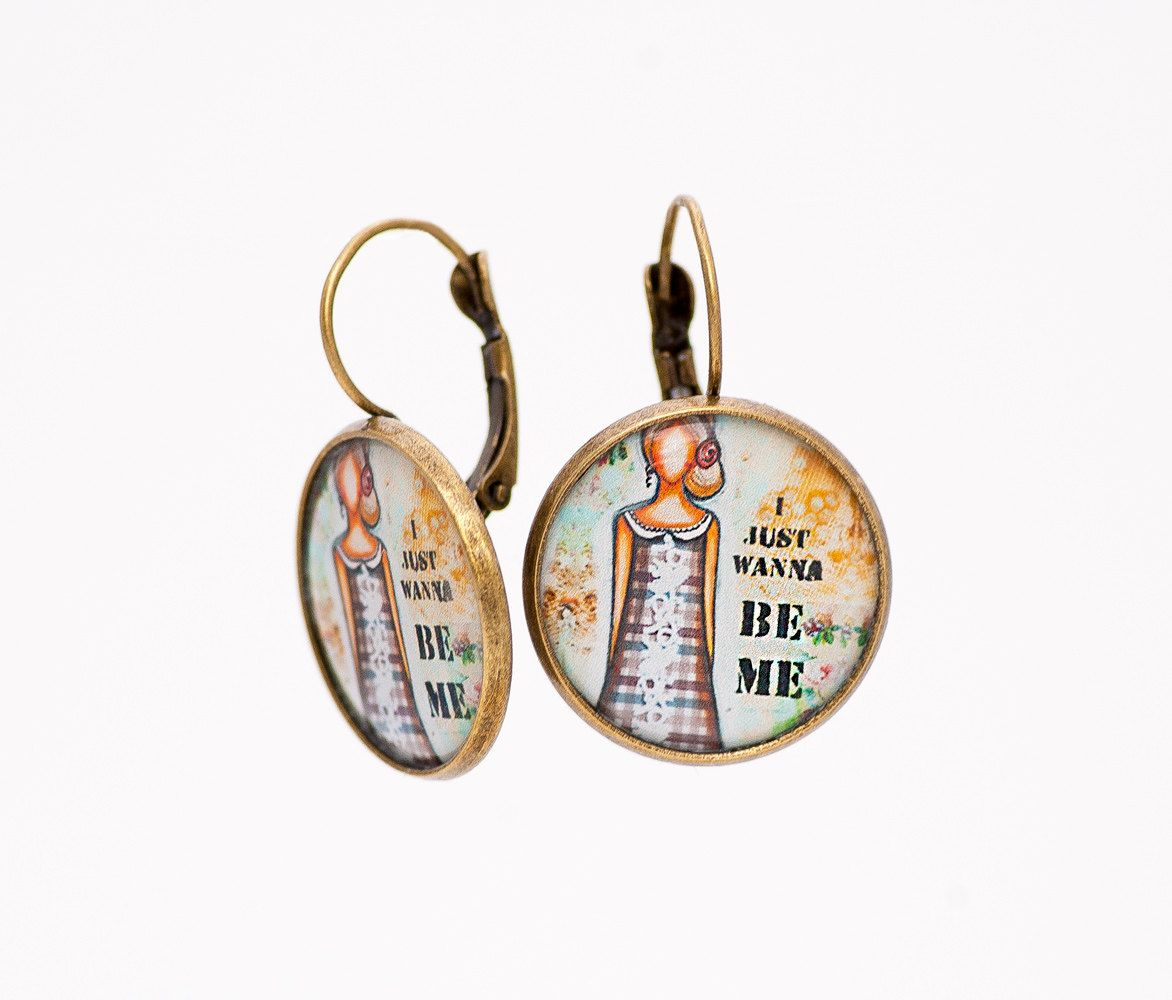 Inspirational Earrings Love Yourself Positive Thinking Whimsical Gifts For Women