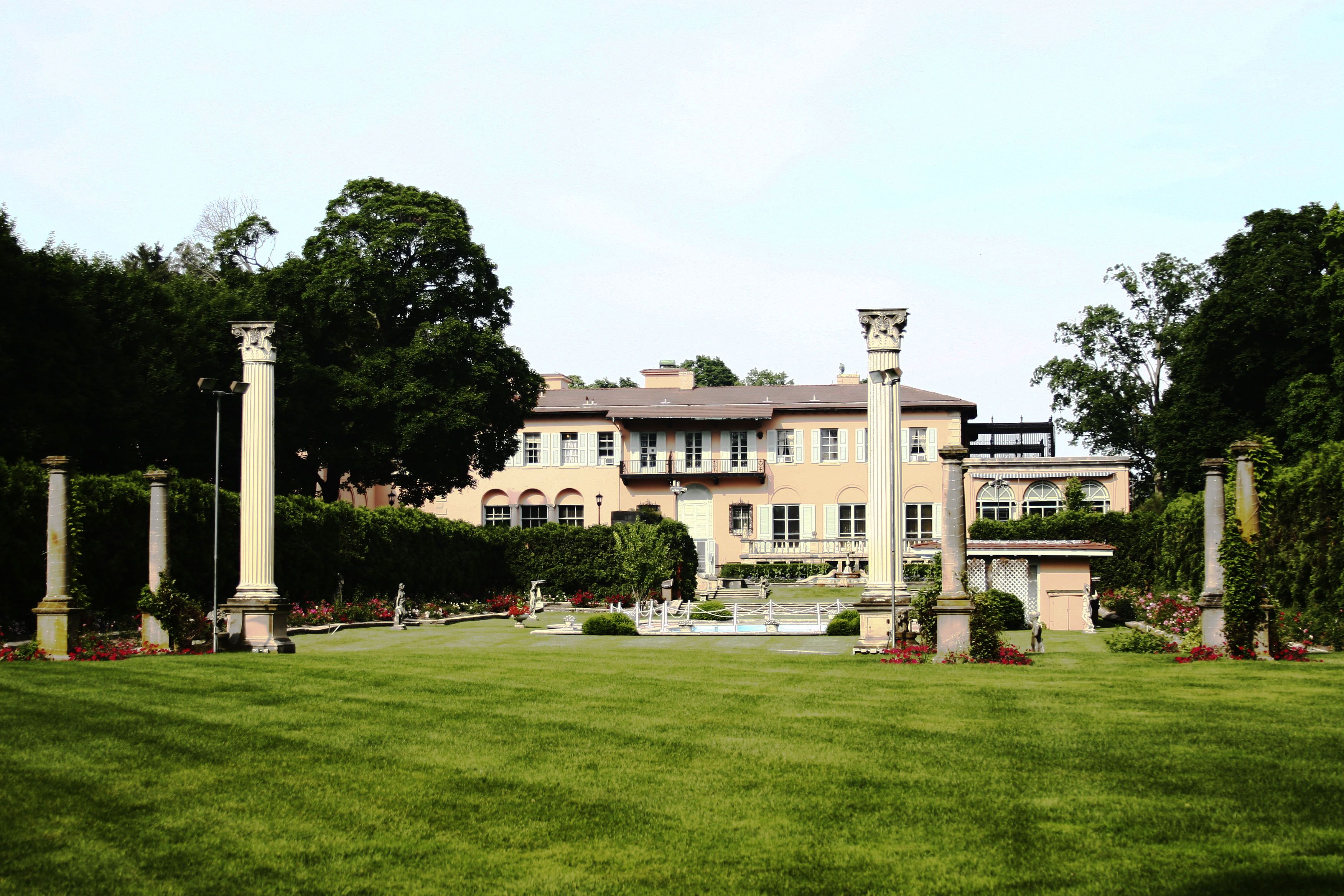 Backyard View of Mansion   Event Spaces & Gardens ...