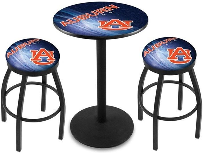 Auburn Tigers D2 Black Pub Table Set. Available in 28-inch or 36-inch diameter Table Top. Visit SportsFansPlus.com for details.