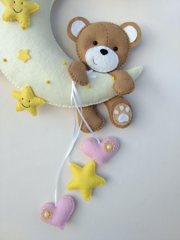Personalised Nursery Fabric Balloons Felt Wall Decor Baby Shower Gift Handmade