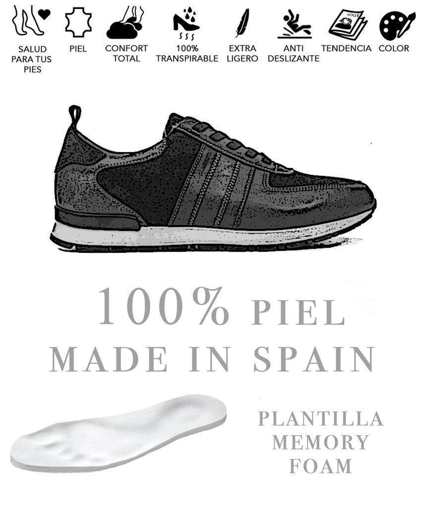 c077c622f56d4 Zapato de hombre SNEAKER de piel MARRÓN – Zapatos online miMaO – miMaO  ShopOnline