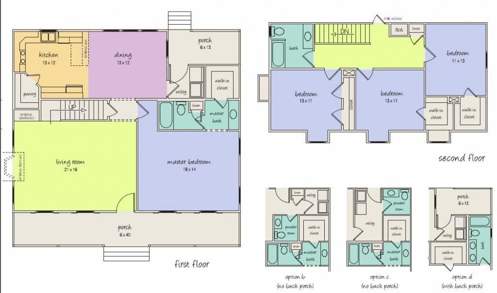 The Ubh Crockett A Floor Plan With Multiple Bathroom Options Custom Home Plans Custom Homes Custom Home Builders