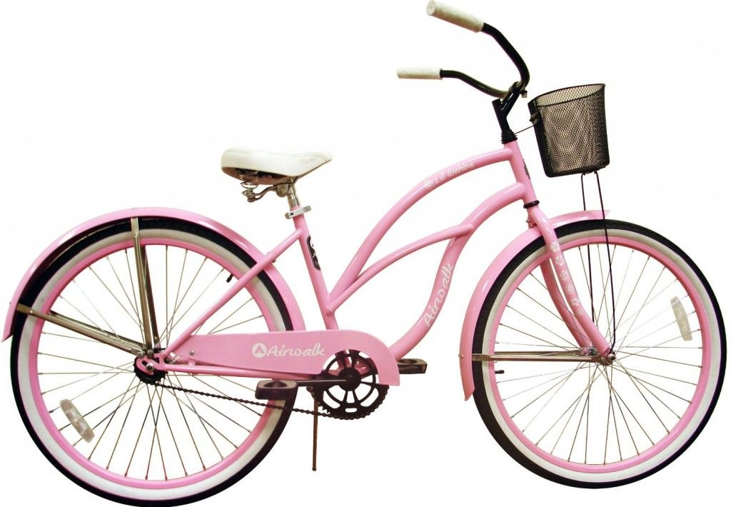 Light Pink Cruiser Bicycle With Front Basket Wish List