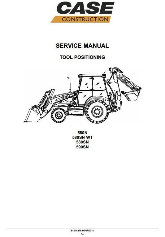 case backhoe loader 580n 580sn 580sn wt 590sn workshop service rh pinterest com 580 Case Backhoe Parts Manual PDF case 580 backhoe owners manual