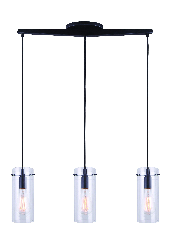 Canarm Ipl759a03bk Joni 3 Light Pendant Ceiling Light Fixture Black In 2020 Ceiling Lights 3 Light Pendant Pendant Lighting