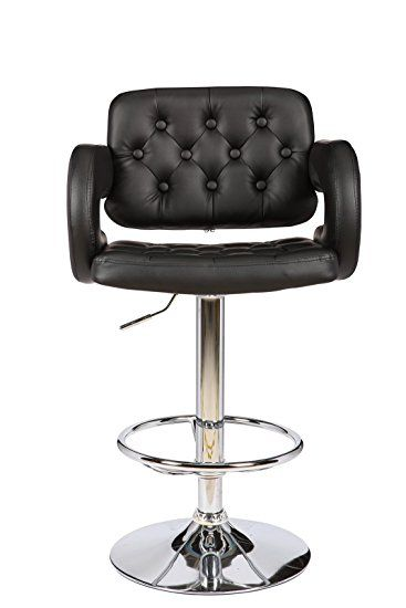 Viscologic Series Westminster 22 Inch Wide Height Adjule Leatherette 360 Swivel 24 To 33 Bar Stool With On Tufted Quilted Upholstered High