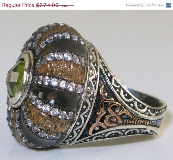 Stunning Sterling Silver  Rose Gold  Peridot by GypsyRoadStudio, $317.90