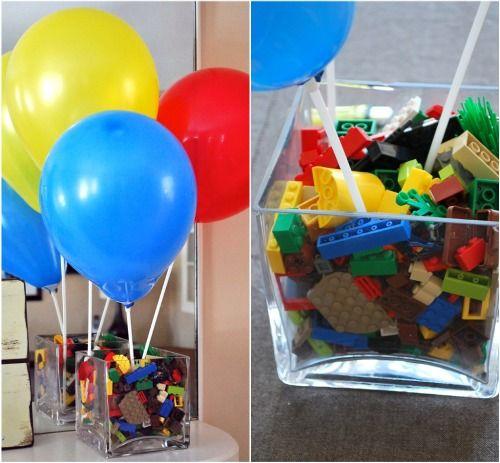 DIY: Simple Lego Party Decor | Lego, Birthdays and Centerpieces