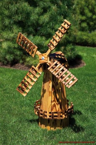 Details About Wooden Windmill Medium 40 Quot Amish Made In
