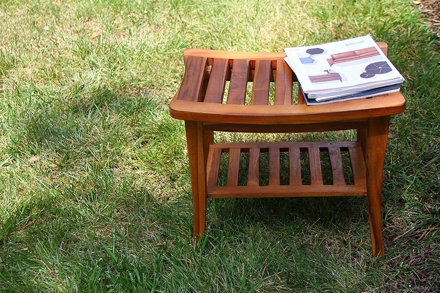 Teak shower benches discover the best benches made out of teak wood for your shower teak benches can go indoors or outdoors