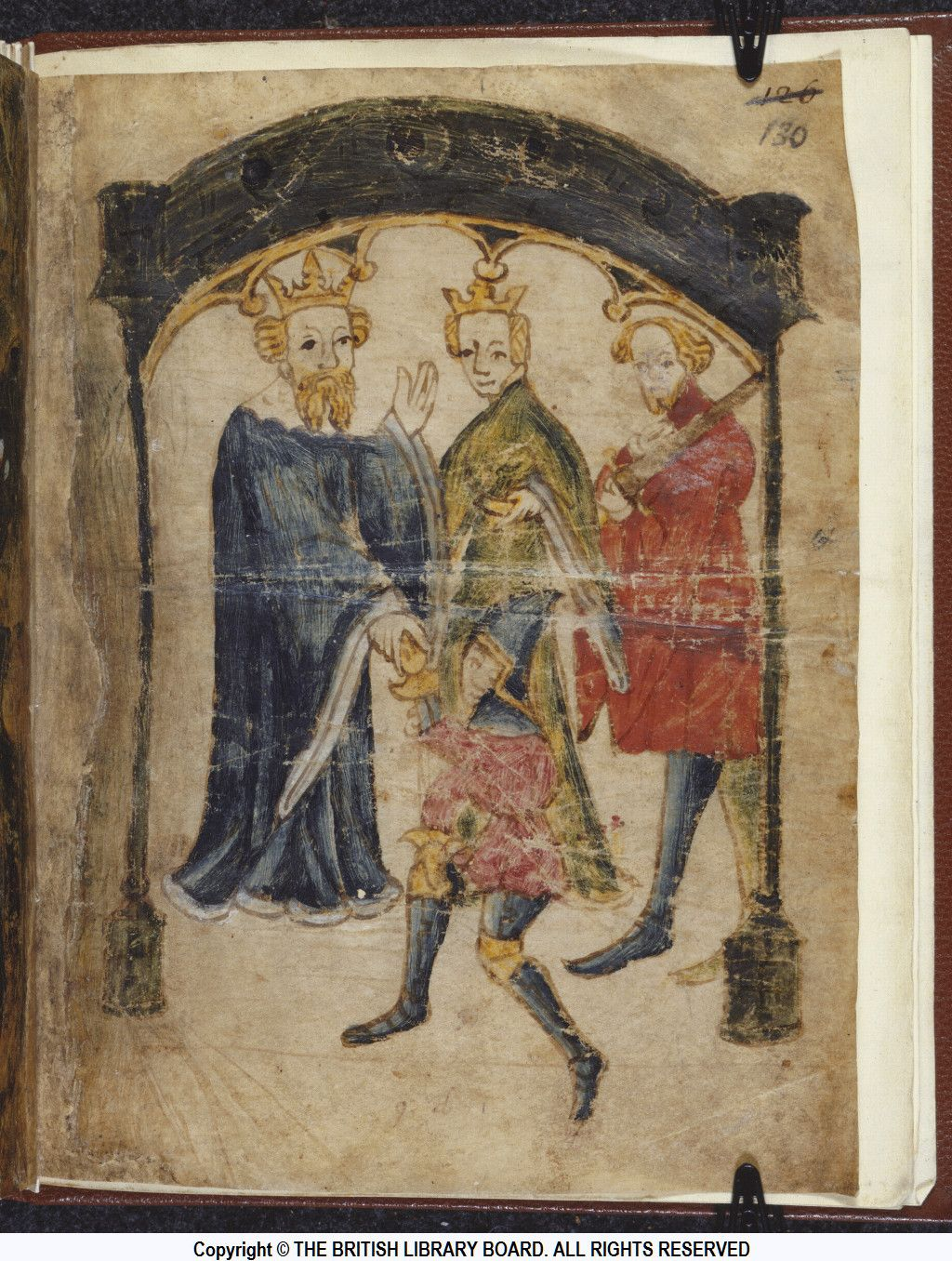 british library ms cotton nero a x art f recto  british library ms cotton nero a recto illustration to sir gawain and the green knight
