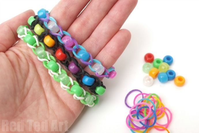 Pony Bead Loom Band Patterns Finger Looming Kids