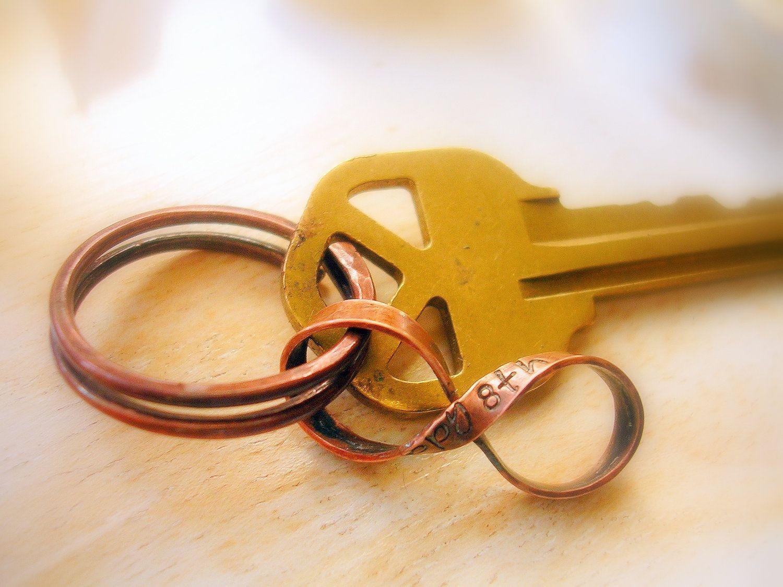8th Anniversary Gift Custom Bronze Infinity With Handmade Key Ring Figure 8