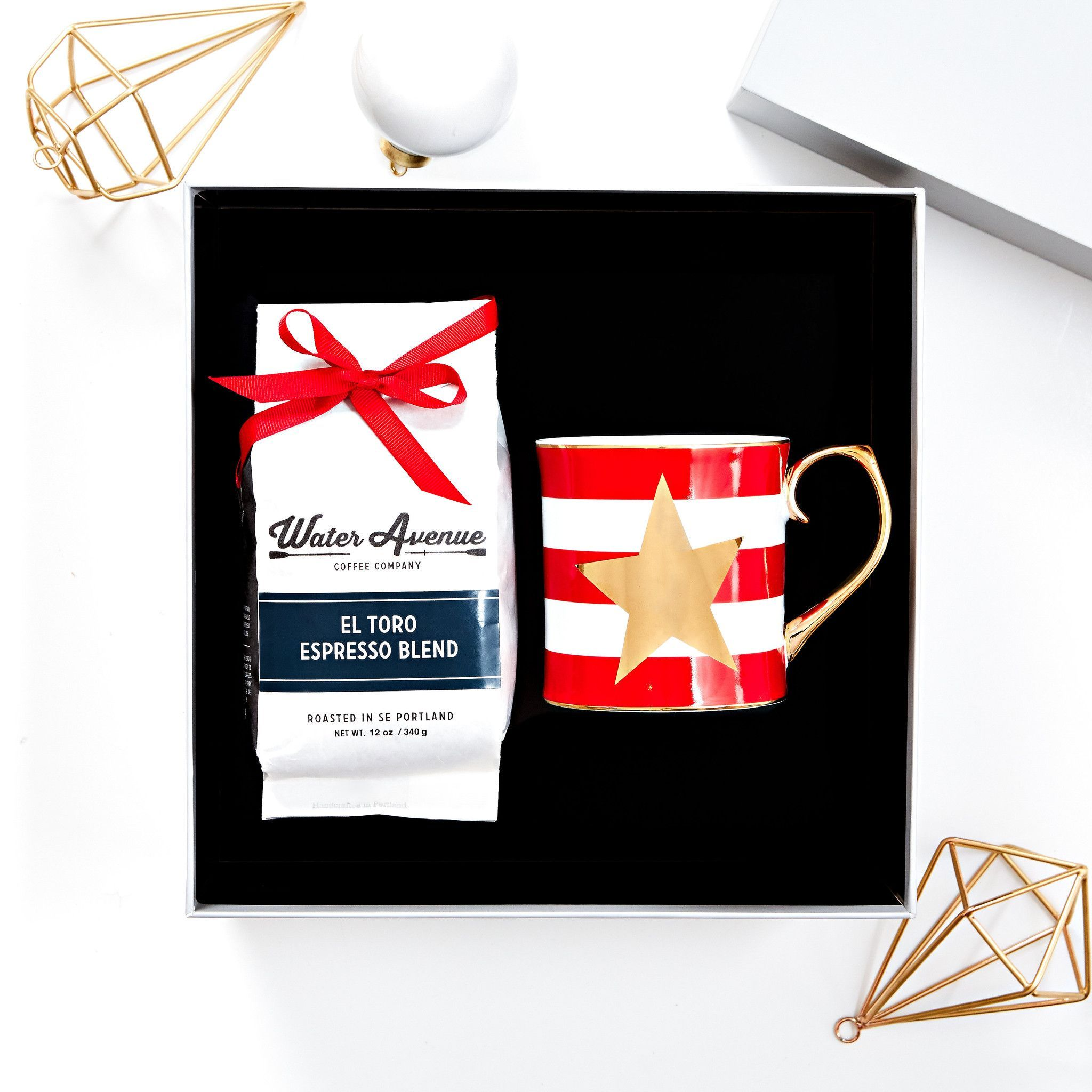 Holiday Star Mug and Coffee Gift Box
