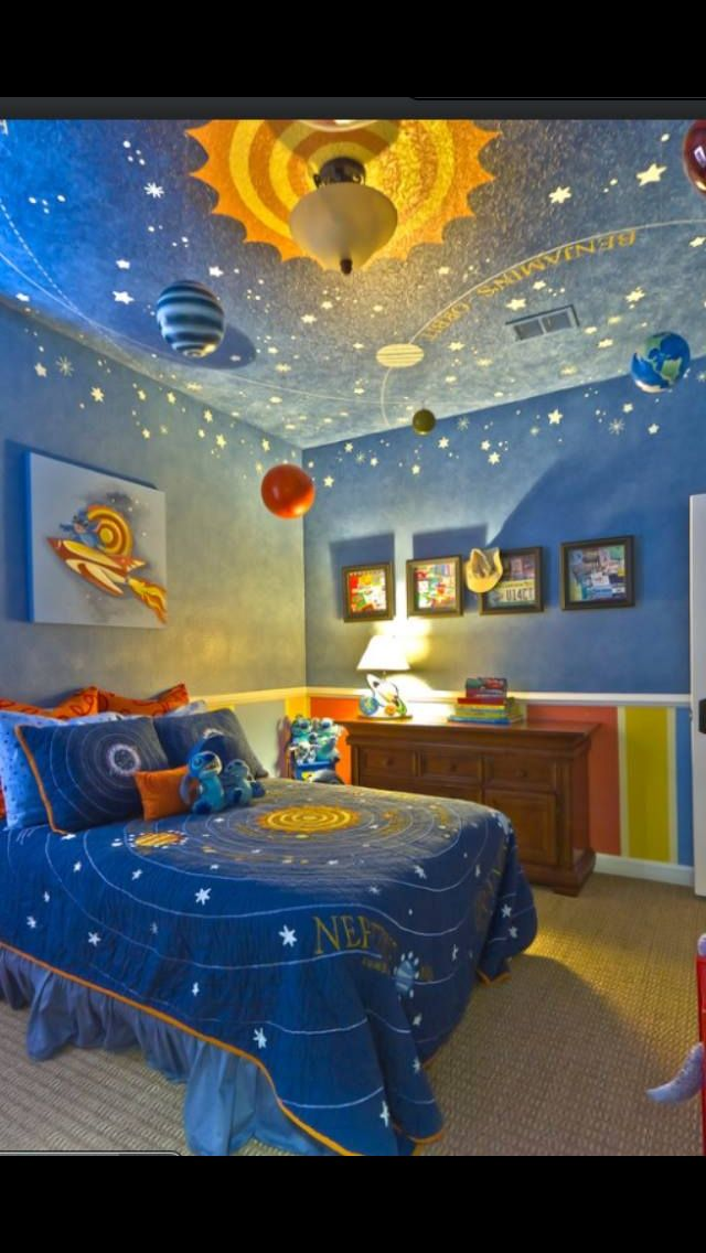 Planet Bedroom With Images Space Themed Bedroom Cool Bedrooms For Boys Space Themed Room