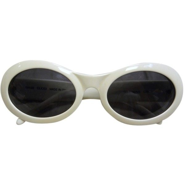 27fbbf20b75d Pre-owned Gucci Oval Frame Vintage 60s Mod Sunglasses ( 358) ❤ liked on Polyvore  featuring accessories
