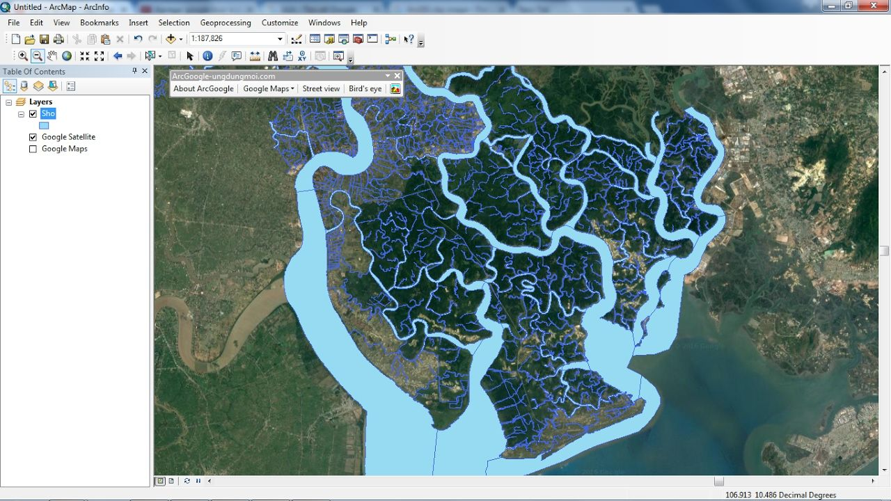 Add Google maps to ArcGIS support for
