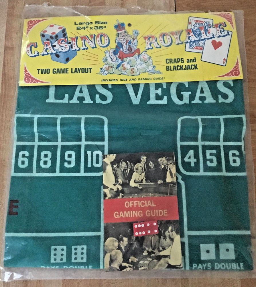 eBay Sponsored Las Vegas Craps & Blackjack Felt Table