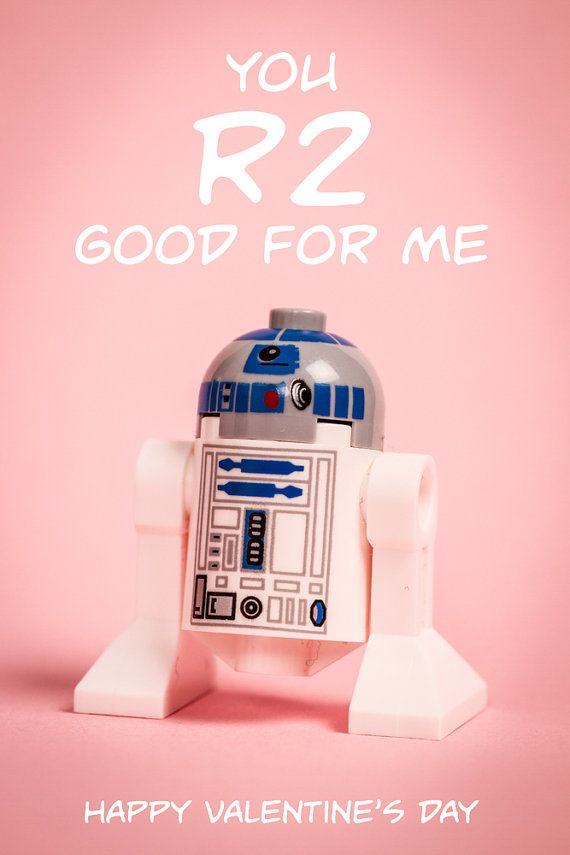 Original Lego Minifigure Valentine S Day Card Image You R2 Good For Me Digital Download Print At Home