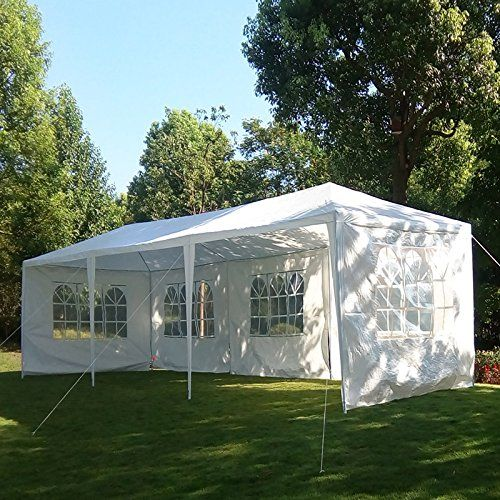 Carports - MCombo 10x30 White Canopy Heavy duty Party Outdoor Wedding Tent 5 Removable Walls 6053W1030w5PC & Carports - MCombo 10x30 White Canopy Heavy duty Party Outdoor ...