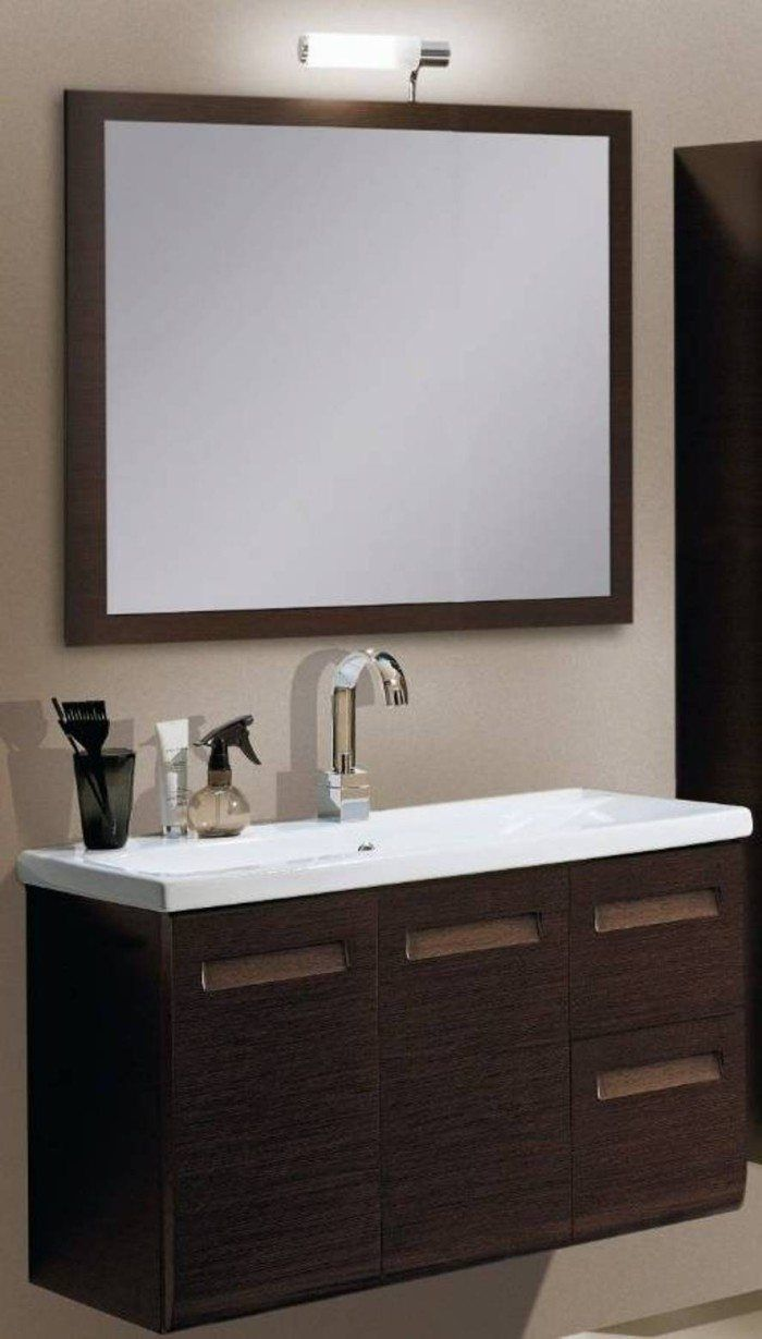 small sink vanity for small bathrooms%0A Wall Mounted Vanity Cabinet For Bathroom    Modern Small