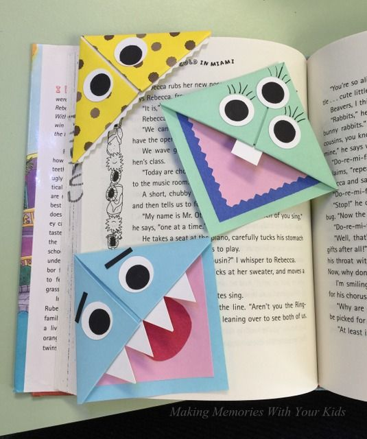 Diy Fun Corner Bookmarks For Kids Bookmarks Kids Origami