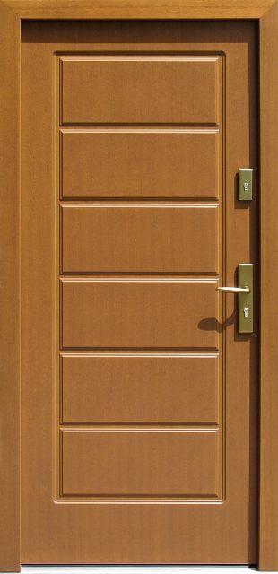Drzwi zewnętrzne drewniane model 594 jasny dąb