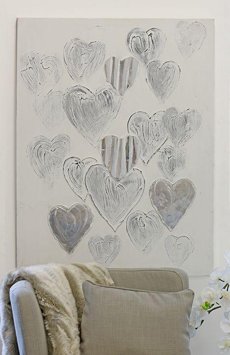 Casablanca Design Casablanca Ölbild Heart Herz Bild Wandbild weiß