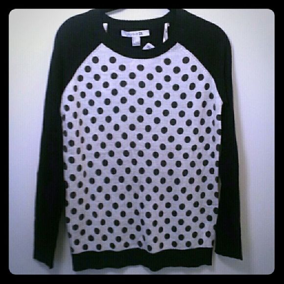 Spotted while shopping on Poshmark: F21 polka dot sweater! #poshmark #fashion #shopping #style #Forever 21 #Sweaters