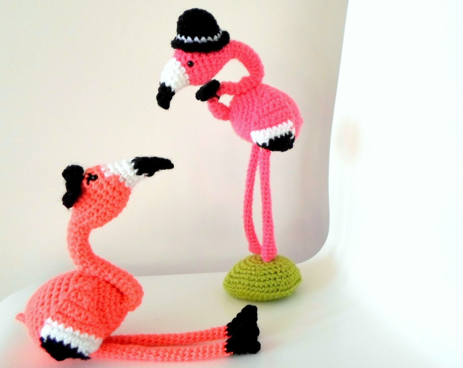 Mr & Mrs Flamingo crochet amigurumi pdf pattern INSTANT DOWNLOAD ...