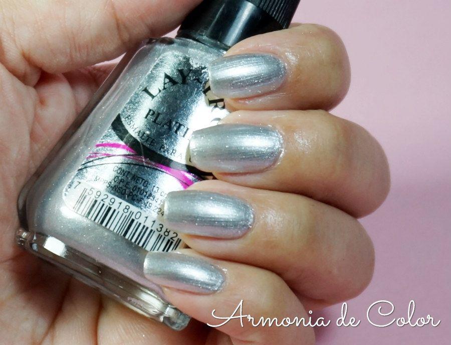 Esmalte Platino efecto metálico de Lay Pro   I love nail polish ...