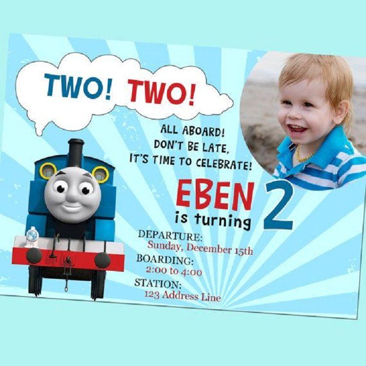 Thomas The Train 2nd Birthday Invitations