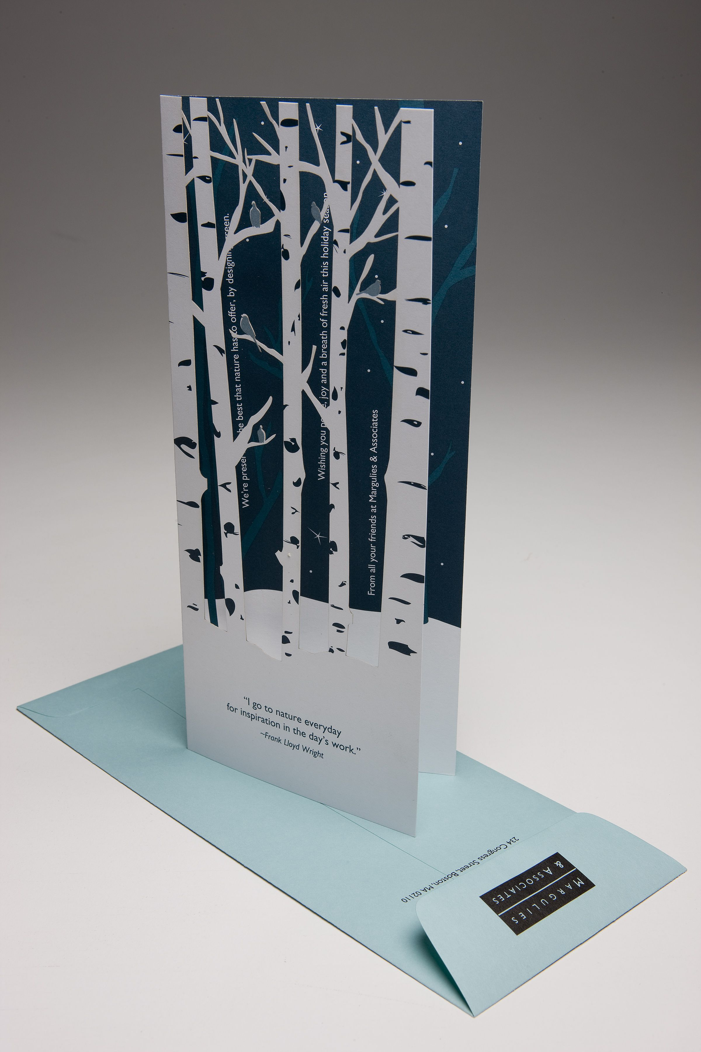 MPA designed this award-winning holiday card using laser cut paper ...