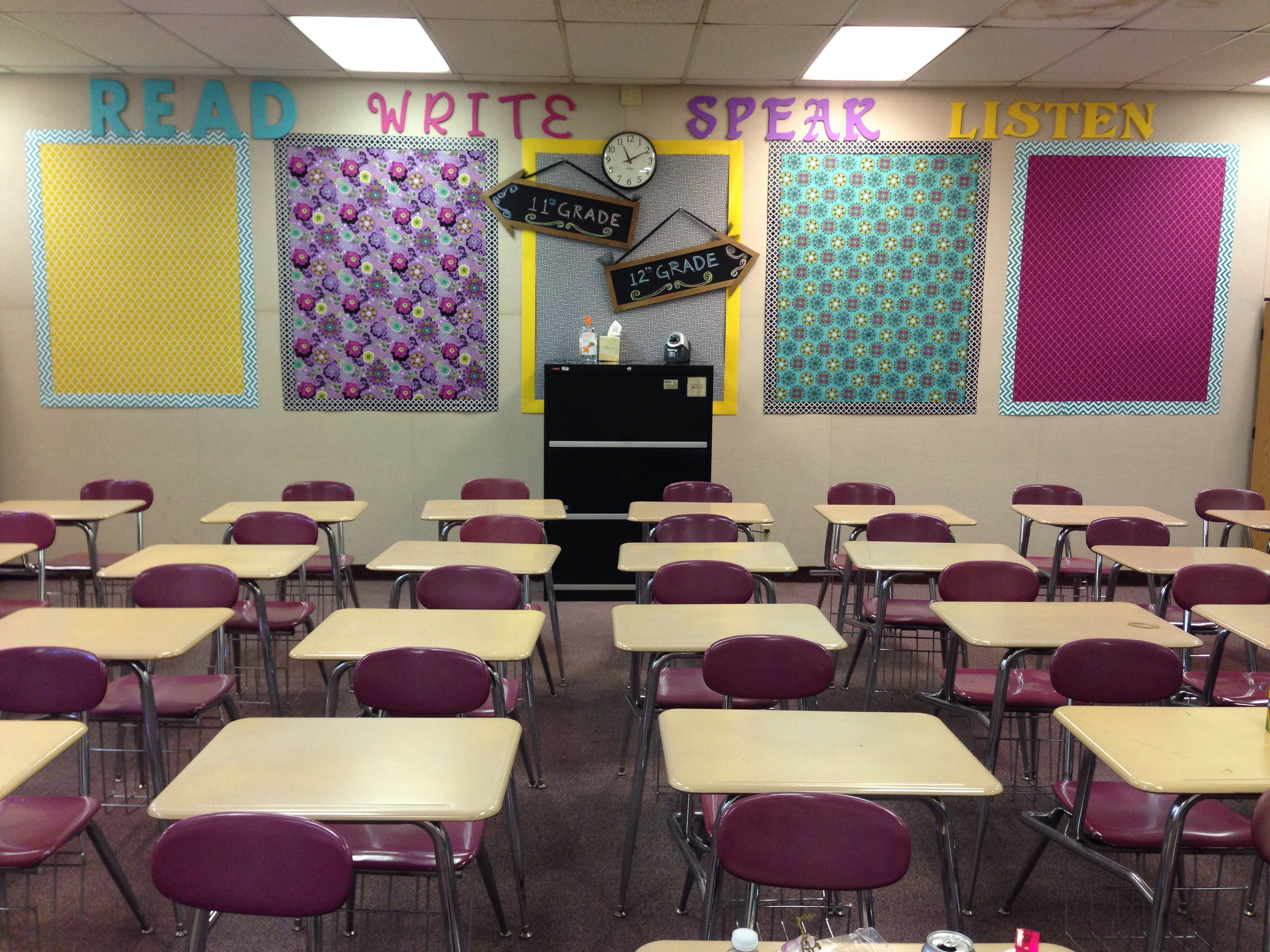 Classroom Decoration English ~ High school english classroom decor read write speak
