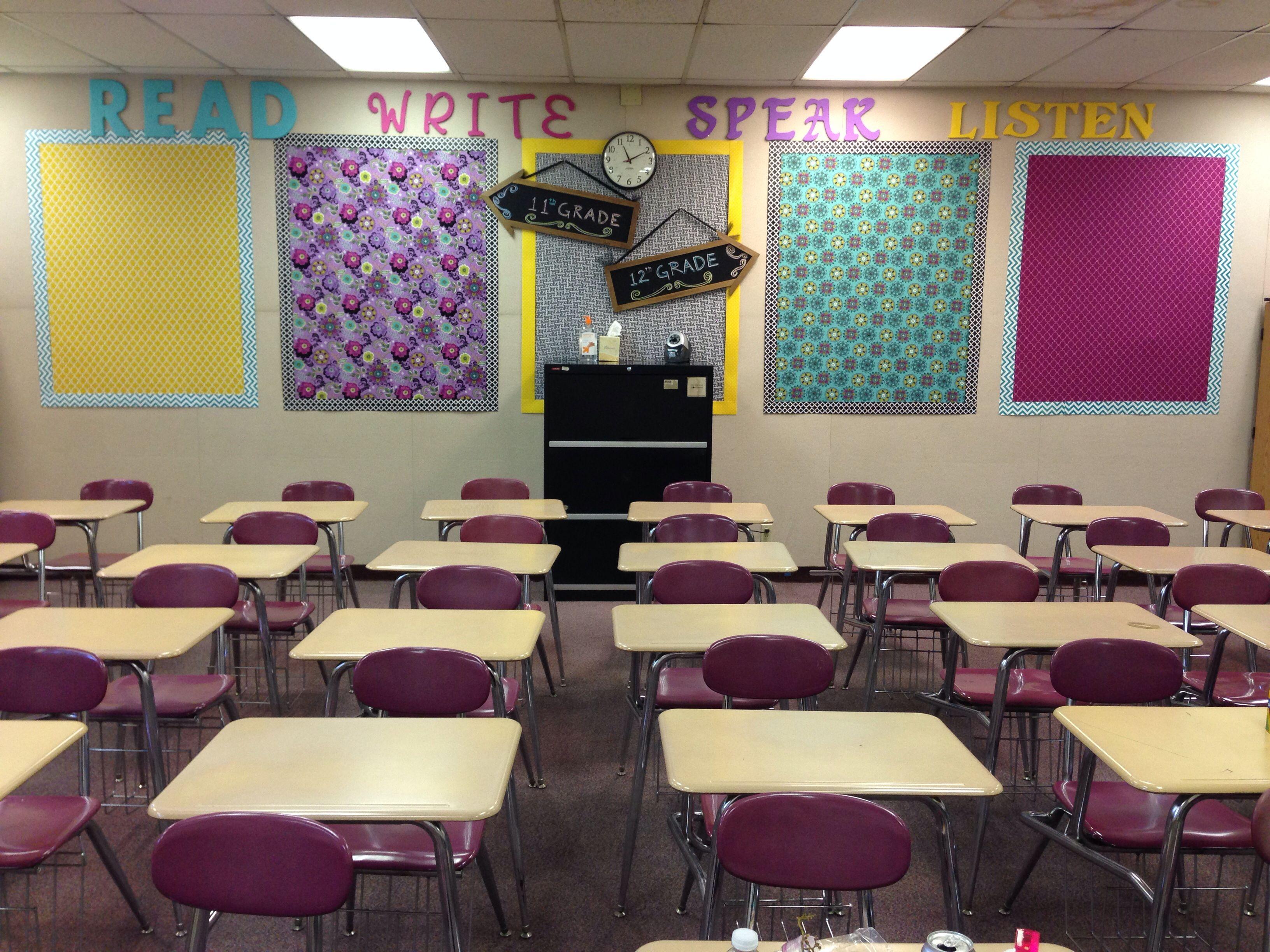 High School English Classroom Decor Read Write Speak