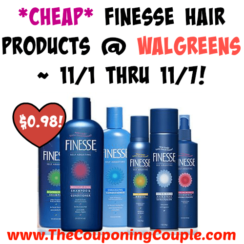 Great deal this week! *CHEAP* Finesse Hair Products @ Walgreens ~ 11/1 thru 11/7!  Click the link below to get all of the details ► http://www.thecouponingcouple.com/cheap-finesse-hair-products-walgreens-111-thru-117/ #Coupons #Couponing #CouponCommunity  Visit us at http://www.thecouponingcouple.com for more great posts!