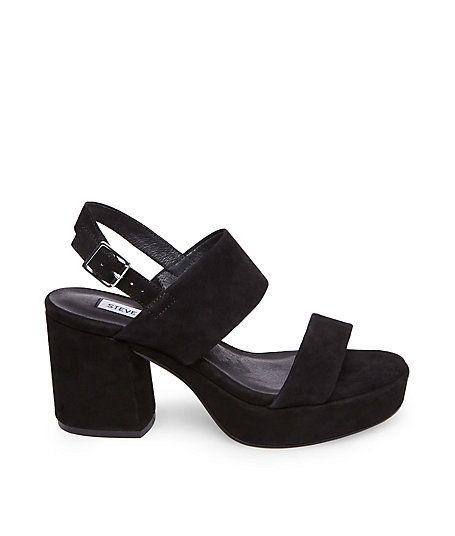 6535750db20 Steve Madden black suede platform sandal
