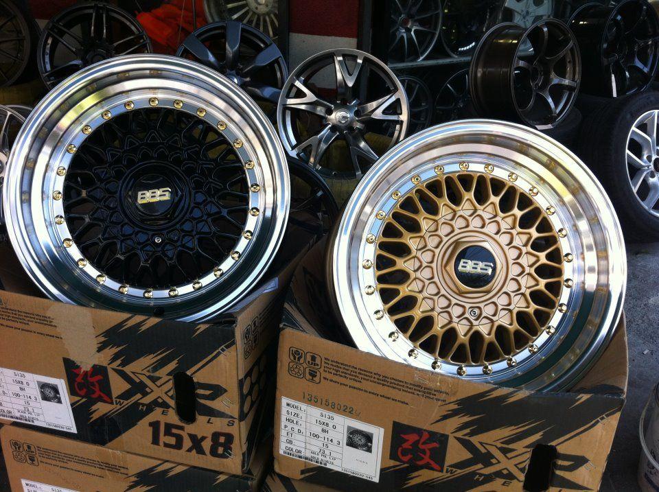 BBS Rims - Black & Gold Style