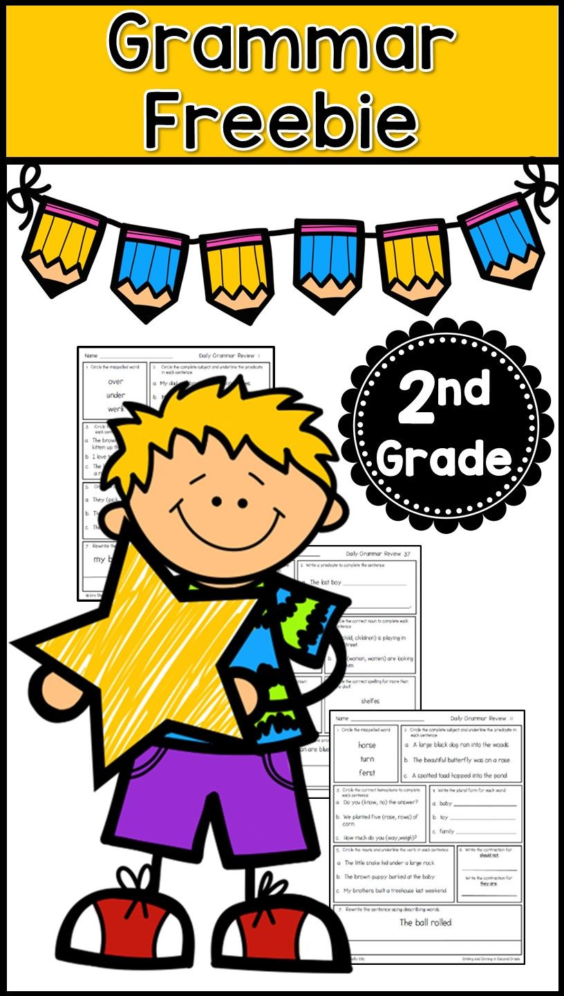 Grammar worksheets for second grade----FREE educational resource for ...