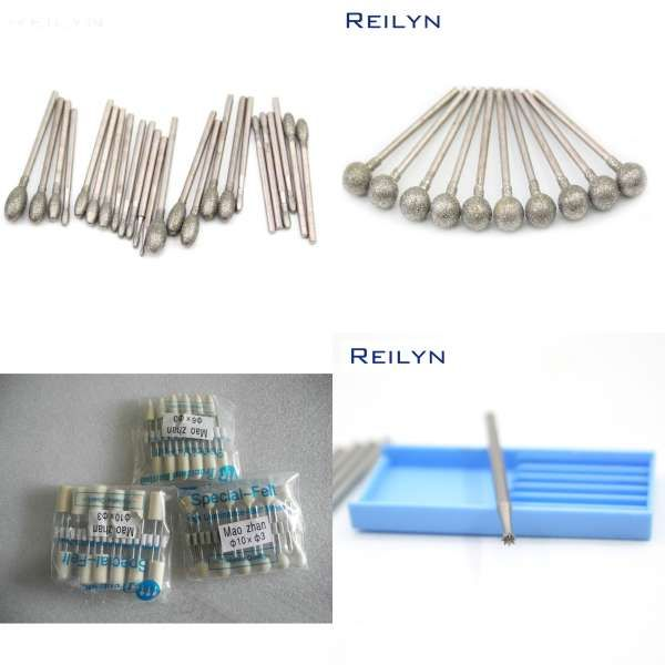 3mmx6mm tungsten carbide burs sets rotary mini drill diamond burrs
