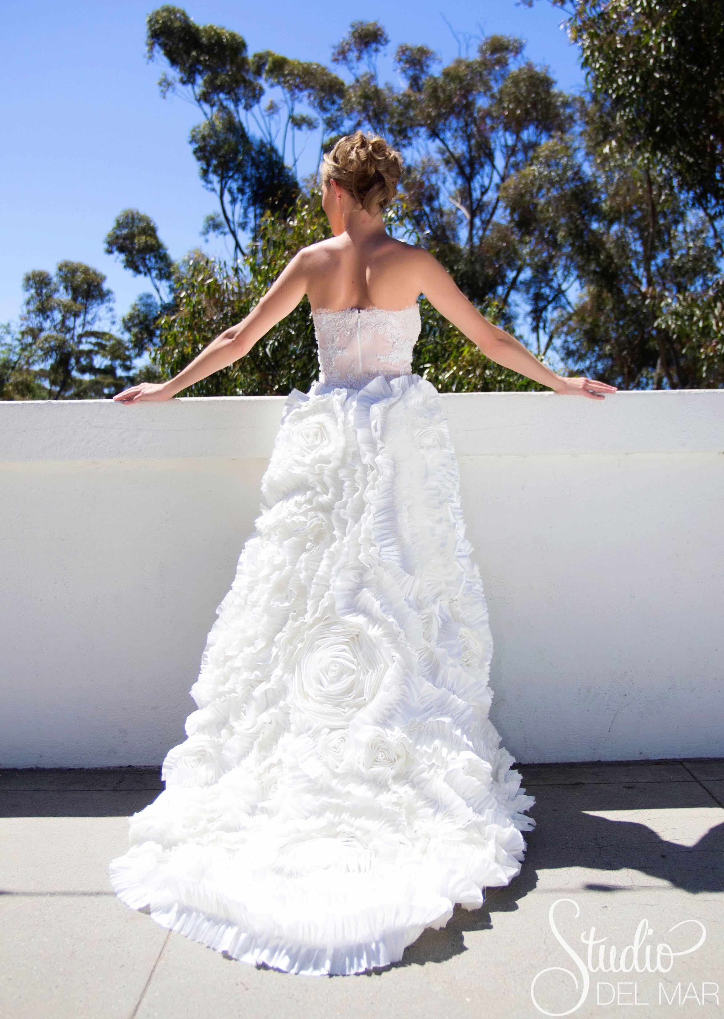 Custom designed wedding dress by Connie Tao Designs. Pasadena ...