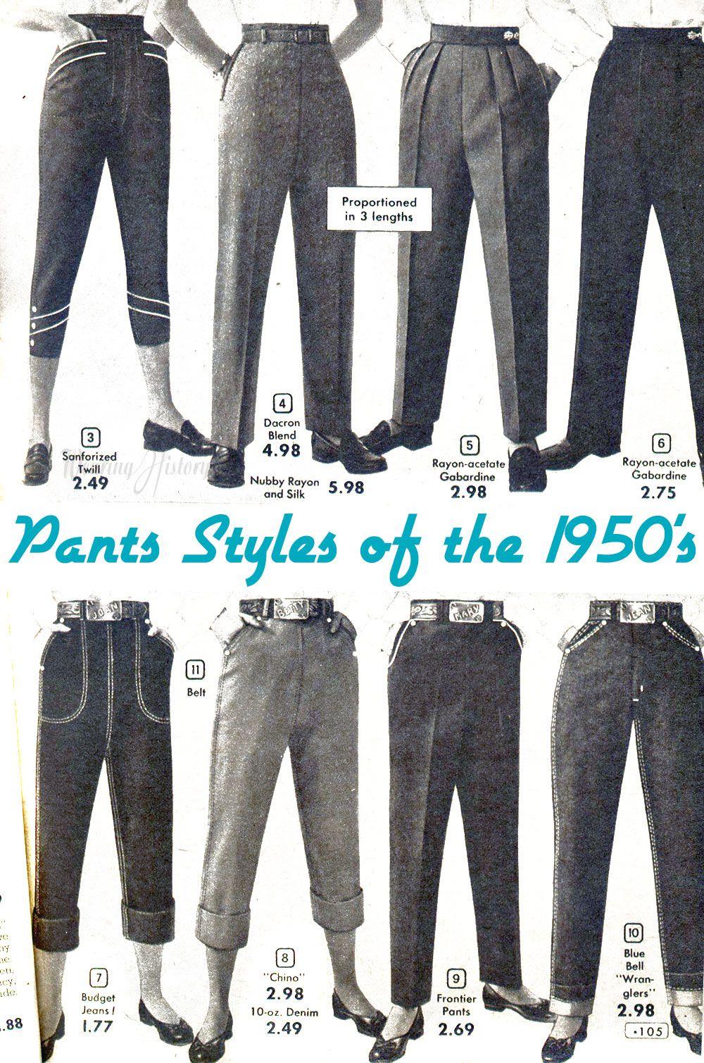 A Primer 1930 S 1950 S Trousers Pants For Women Vintage Trousers Vintage Outfits Womens Fashion Vintage