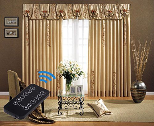 Electric Curtain Motorized Drapery Track Remote Control Curtain