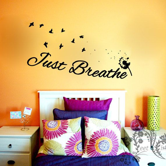 Just Breathe - Wall Decals - Wall Decal - Wall Vinyl - Wall Décor ...